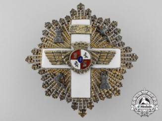 Spain, Fascist State. An Order of Aeronautical Merit; III Class Cross with White Distinction