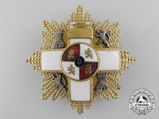 A Spanish Order of Military Merit; 3rd Class Cross with White Distinction 1938-1975