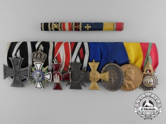 A Fine German First & Second War Medal Bat with Order of the White Elephant