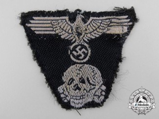 An SS-Panzer One Piece Insignia for SS Model 1943 Cap