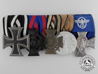 A First War, Olympic and Police Long Service Medal bar