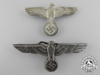 Two Wehrmacht/Army Visor Cap Eagles