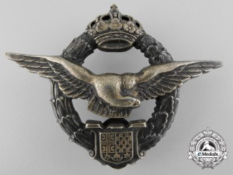 A Royal Yugoslav Pilot's Badge by Stevan Oreščanin, Beograd