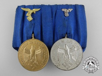 A Second War Luftwaffe Long Service Medal Bar