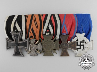 A German First & Second War Medal Bar; Württemberg Army Recipient