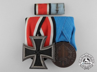 An Unusual German-Italian Second War Valor Medal Bar