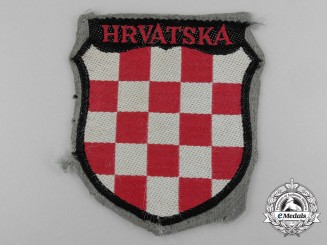 "A Second War Croatian Army Volunteer Shield ""HRVATSKA"""