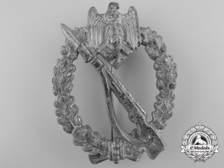 A Silver Grade Infantry Assault Badge by Ernst L. Müller, Pforzheim