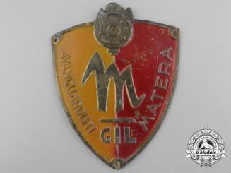 An Italian Youth of the Lictor Matera Fascist Membership Badge