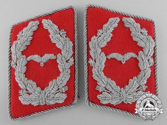 A Luftwaffe Flak/Ordnance Major's Collar Tab Pair