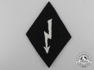 An SS-Sleeve Diamond Insignia for EM/NCO's; Radio Operator (Funker)