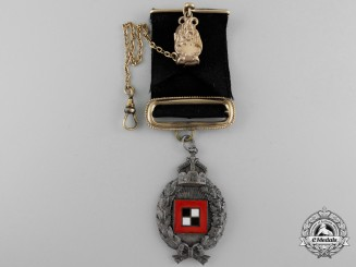 A German Imperial Observer's Badge Worn as a Watch Fob