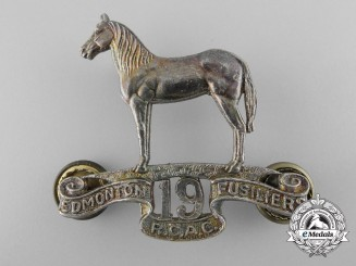A 19th Edmonton Fusiliers Officer's Cap Badge,