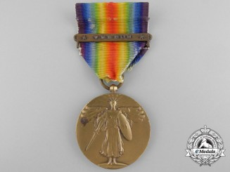 A First War American Victory Medal with Unofficial Verdun Clasp