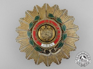Peru, Republic. An Order of the Sun, Grand Cross Star, by E.Gardino, Roman, c.1930