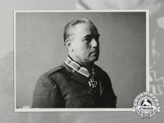A Large Second War Period Photo of field Marshal (Maresciallo d'Italia) Giovanni Messe
