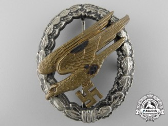 Germany. A Luftwaffe Paratrooper Badge by Assmann, Type E