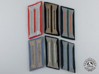 Six Second War German Collar Tabs