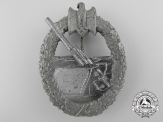 A Kriegsmarine Coastal Artillery Badge by Aurich