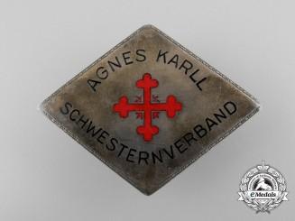 A DRK Agnes Karll Schwesternverband Brooch; Silver