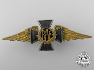An RAF Chaplain's Collar Badge by J.R. Gaunt London