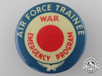 A Scarce Air Force Trainer; War Emergency Program Badge