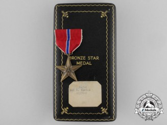 An American Bronze Star with Case to Major Sam G. Vercoe