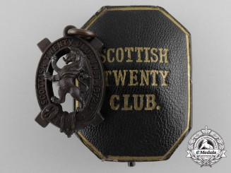 A Scottish Twenty Club Shooting Medal with Case