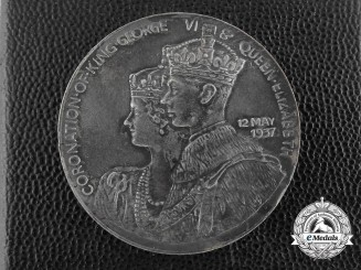 "A King George VI and Queen Elizabeth ""United British Empire"" Coronation Medal 1937"