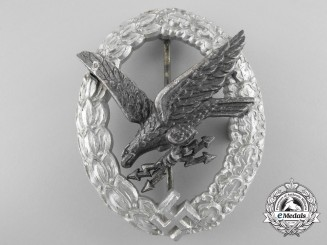 Germany. A Luftwaffe Radio Operator Badge in Aluminum by Assmann