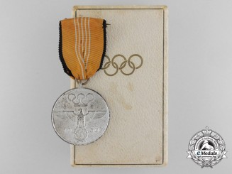 A German XI Summer Olympic Games Medal with Case