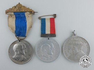 Three British Coronation Commemorative Medals