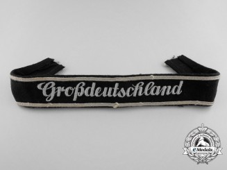 "A German Army, E/M ""Großdeutschland"" Cufftitle; 4th Pattern"