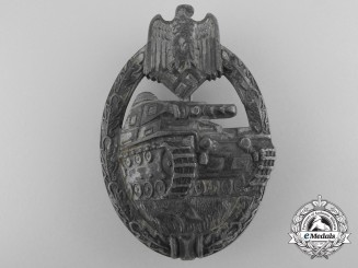 A Silver Grade Tank Badge by Karl Wurster K.G.