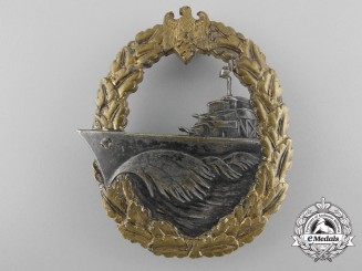 A Kriegsmarine War Destroyer Badge by B.H. Mayer