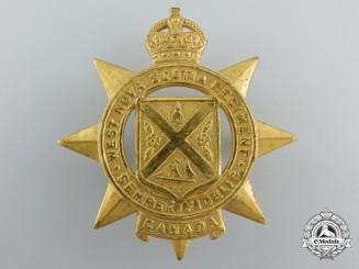 A Second War West Nova Scotia Regiment Officer's Cap Badge