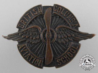 A Rare British Columbia Aviation School Badge