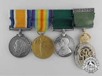 A First War Colonial Auxiliary Forces Officers' Decoration Group to Lieutenant Holden
