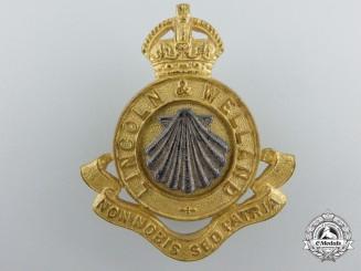 A Second War Lincoln & Welland Officer's Cap Badge