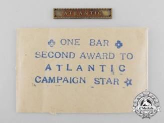 A Second War British Atlantic Clasp with Packet