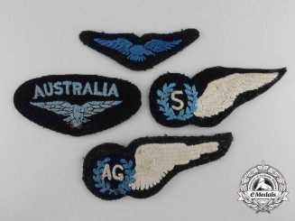 Four Second War Royal Australian Air Force (RAAF) Insignia