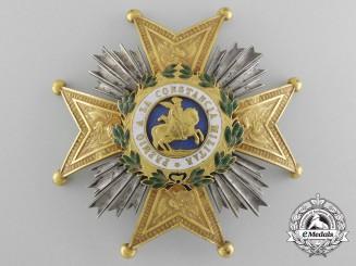 A Spanish Order of St. Hermengildo; General's Rank Breast Star c.1835