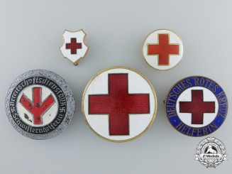 Five German Second War Period Red Cross Badges