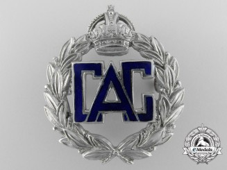 A Civil Air Guard Cap Badge; Published in Eagles Recalled by W.Carroll