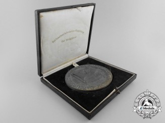 A 1939 NSFK Dusseldorf Table Medal with Case