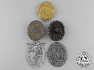 Five Second War German Awards and Badges