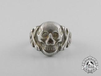 A Second War Period German Skull Ring