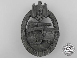 A Silver Grade Tank Badge by Hermann Aurich, Dresden