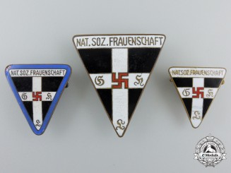 "Three ""Deutsche Frauenwerk"" Badges & Awards"