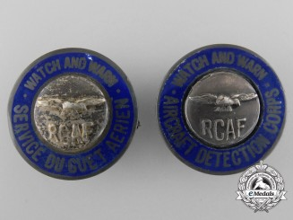 Two RCAF Aircraft Detection Corps; English and French Versions